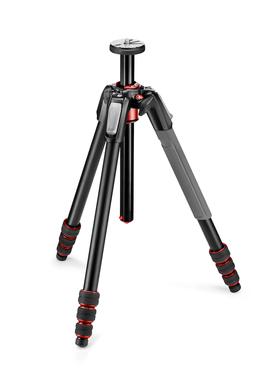 190 Go! Aluminum 4 Section Tripod with Twist Locks Grey