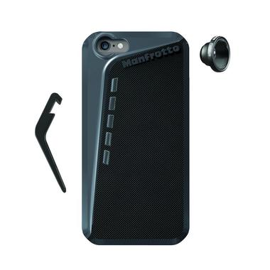 Black Case for iPhone 6 + kickstand + Fisheye lens