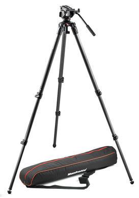 Lightweight fluid video system / carbon / single legs