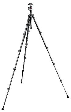 Compact Series tripod with built-in photo head - black