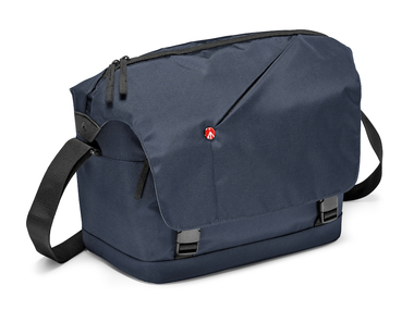 Blue Messenger Bag for DSLR with add. lens and personals