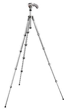 Compact Series tripod with built-in photo/movie head - gray