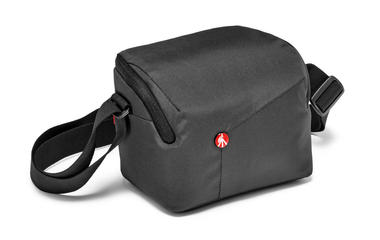 Grey Shoulder Bag for CSC with additional lens