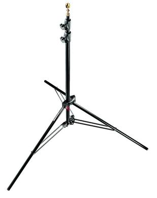Black Alu AC Compact Stand 7'8'' 3 Sections, 2 Risers