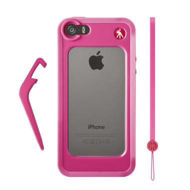 Pink Bumper for iPhone 5/5S + kickstand + hand-wrist strap