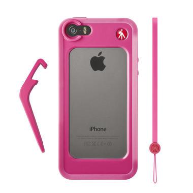 Pink Bumper for iPhone 5/5S + kickstand + hand-wrist strap