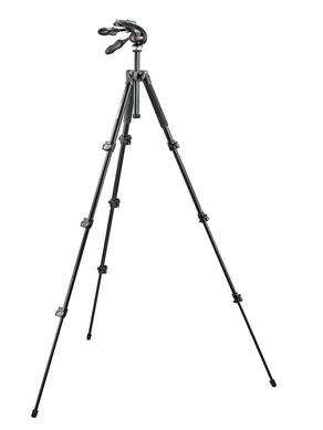 Kit: 293 alu tripod (4S) + 3-way head w. foldable handles