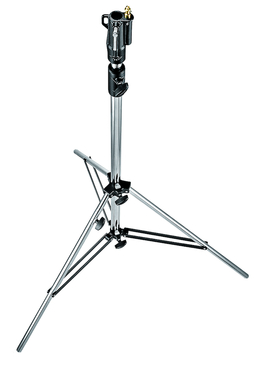 7' Stainless Steel Cine Stand w/Leveling Leg