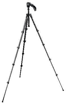 Kit treppiedi Compact 5 sezioni + testa foto/video - nero