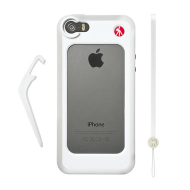 White Bumper for iPhone 5/5S + kickstand + hand-wrist strap
