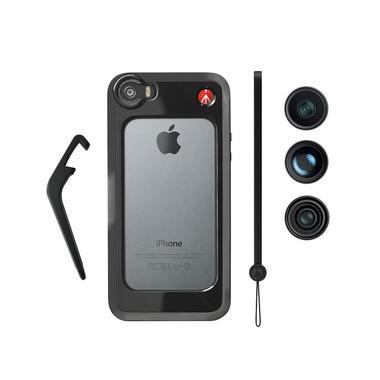 Black Bumper+ 3 lenses (fisheye, portait 1.5X, wideangle)