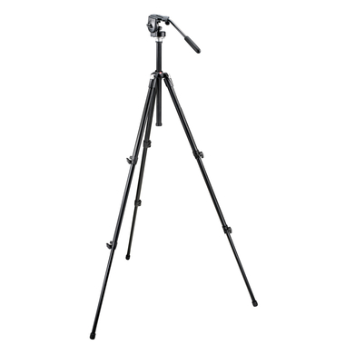 Basic Tripod (Black) with 128LP Micro Fluid Head