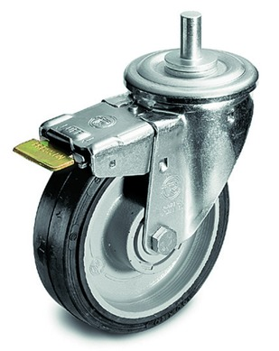 Wheel Set, 160mm M10 Attachment with Brakes (S. O.)