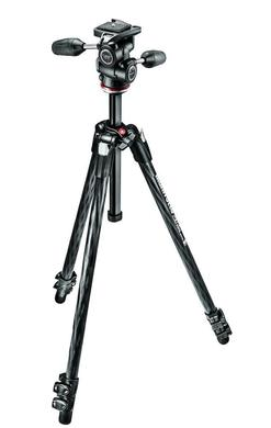 290 XTRA CARBON Kit, CF 3 sec. tripod with 3W head