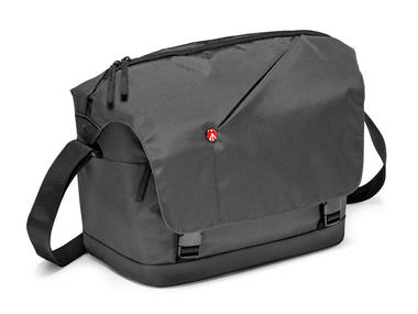 Grey Messenger Bag for DSLR with add. lens and personals