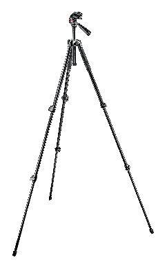 293 Aluminum 3 Section Tripod with QR 3 Way Head