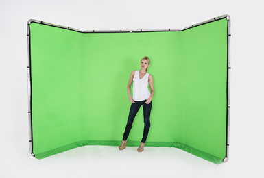 Panoramic Background 13' (4M) Chromakey Green