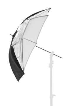 Umbrella Dual 72cm Black/Silver/White