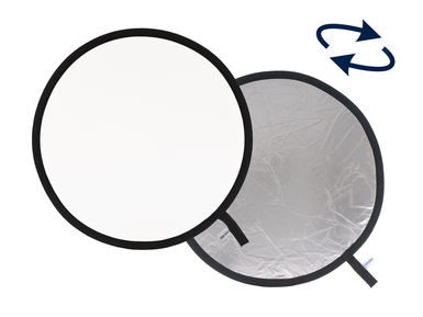 Collapsible Reflector 75cm Silver/White