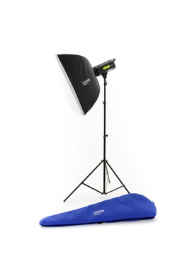 Lumen8 Single Head Kit F400 + Stand & Softbox (Rods) EU