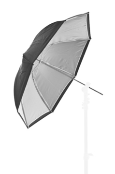 Umbrella Dual Duty 72cm Black/White