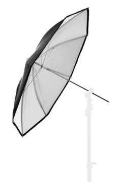 40'' PVC Umbrella Black/White