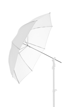 39'' Fiberglass Umbrella - White Translucent