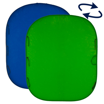 Collapsible Reversible 1.8 x 2.1m Chromakey Blue/Green