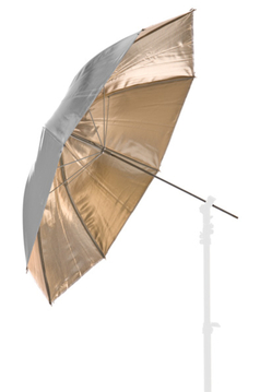 41'' Reversible Fiberglass Umbrella - Silver/Sunfire