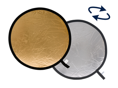 Collapsible Reflector 95cm Silver/Gold