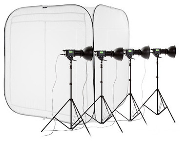 Cubelite Kit 2x2x2.1m - Stands+Fluores 85w110v Lights US