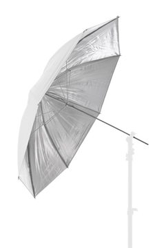 41'' Reversible Fiberglass Umbrella - Silver/White