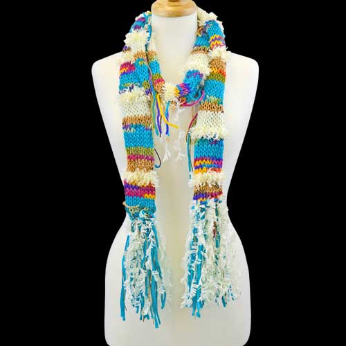 Scarf Multi Color String Blue picture