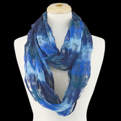 Scarf Infinity Ombre Textured French Blue