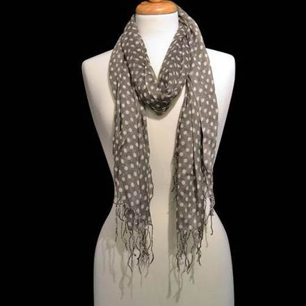 Scarf Polka Dot Gray picture