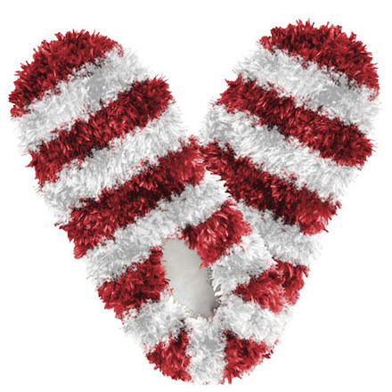 Fuzzy Footies Fanwear Red/White picture
