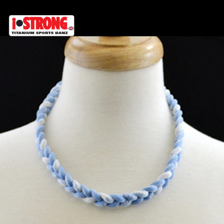 iStrong Necklace Light Blue/White picture