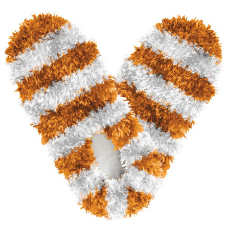 Fuzzy Footies Fanwear Orange/White picture