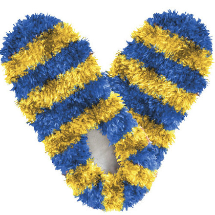 Fuzzy Footies Fanwear Blue/Gold picture