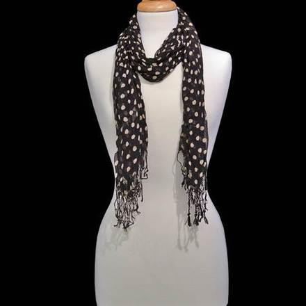 Scarf Polka Dot Black picture