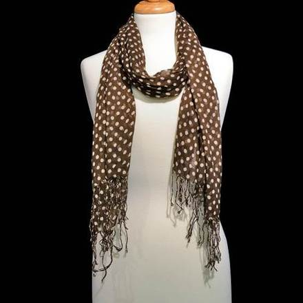Scarf Polka Dot Brown picture
