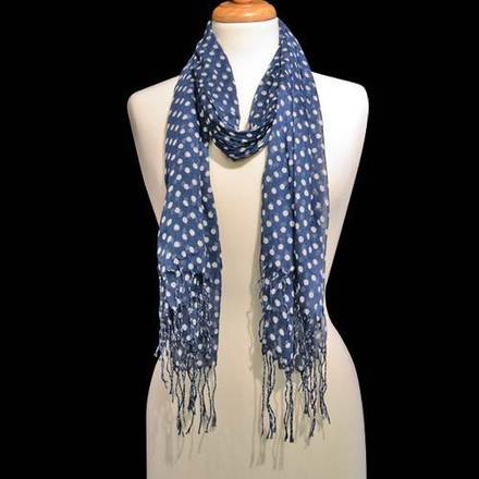 Scarf Polka Dot Royal Blue picture