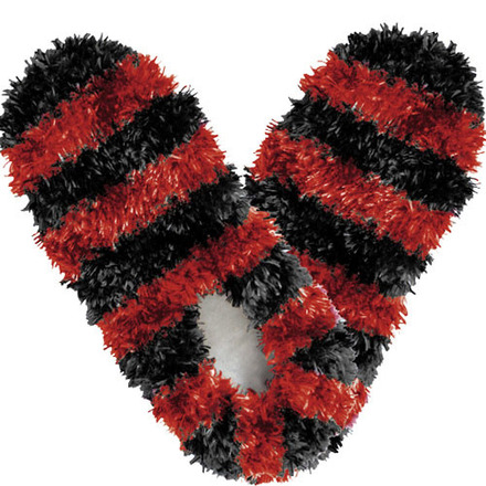 Fuzzy Footies Fanwear Black/Red picture