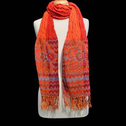 Scarf Aztec Floral Red picture