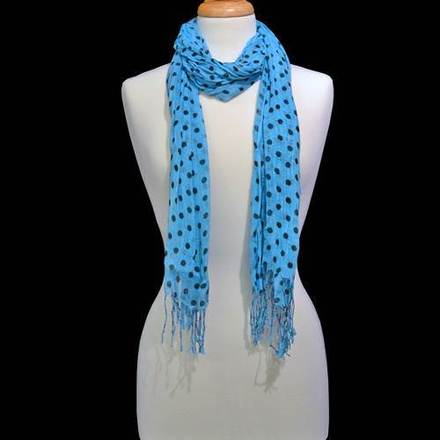 Scarf Polka Dot Turquoise picture