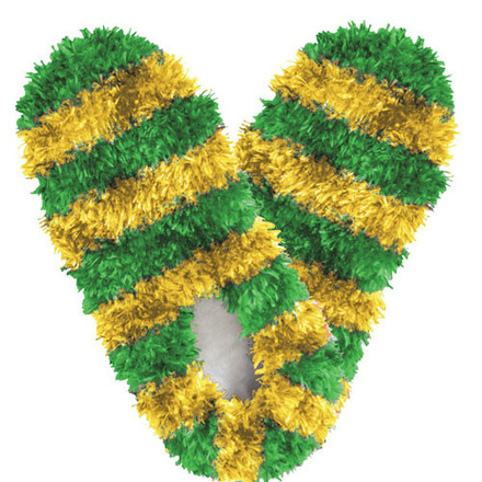 Fuzzy Footies Fanwear Green/Gold picture