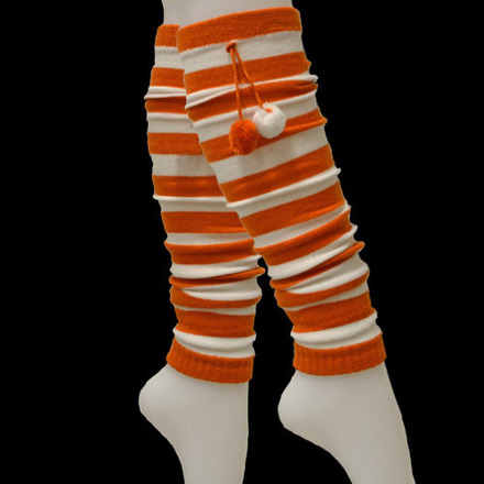 Leg Warmer Fanwear Burnt Orange/White picture