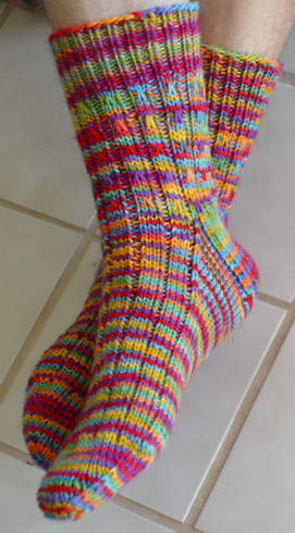 Rainbow Socks Pattern picture