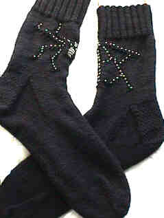 Spider-Web Sockies e-Pattern picture