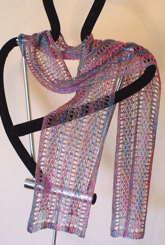 Cat's Cradle Long-Ways Scarf e-Pattern picture